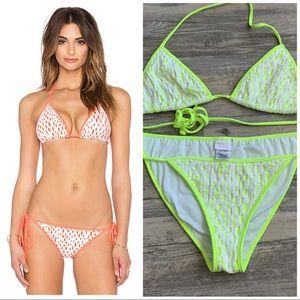 Milly Cabana Neon Biarritz String Bikini Large